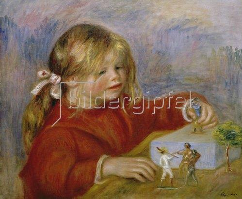 Auguste Renoir: Die spielende Claude Renoir.