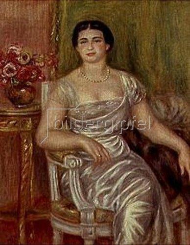 Auguste Renoir: Die Dichterin Alice Valliere.