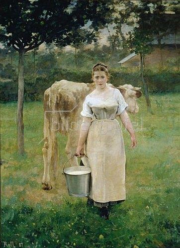 Alfred Roll: Das Mädchen mit dem Milcheimer. 1887.