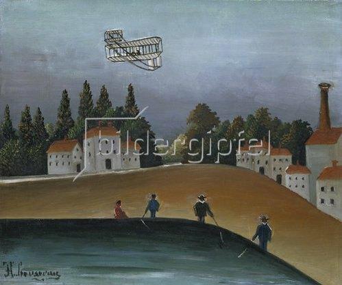 Henri Rousseau: Die Angler (Pecheurs a la ligne). 1908.