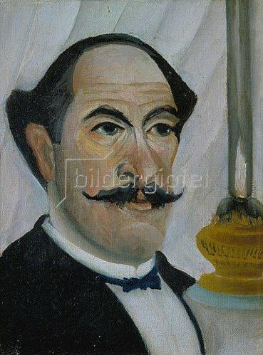 Henri Rousseau: Selbstbildnis mit Lampe. 1902/03