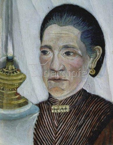 Henri Rousseau: Bildnis der zweiten Frau des Künstlers mit der Lampe. 1902/03