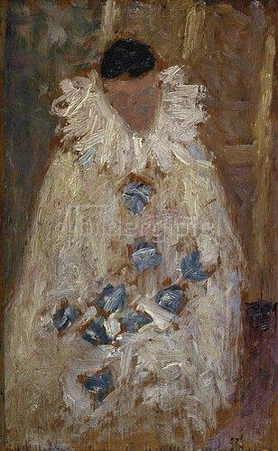 Georges Seurat: Der Maler Aman-Jean als Pierot. 1884.