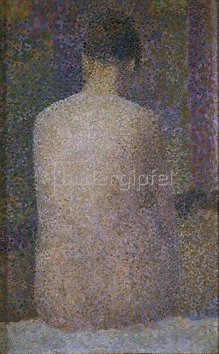 Georges Seurat: Rückenansicht einer weiblichen Aktfigur. 1887