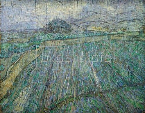 Vincent van Gogh: Weizenfeld im Regen. 1889.