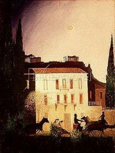 Tivadar Csontváry-Kosztka: Ausfahrt bei Neumond in Athen. 1904