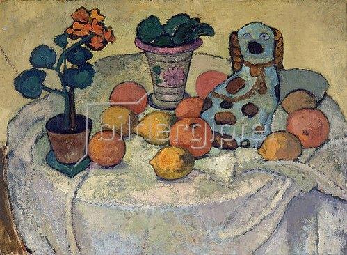 Paula Modersohn-Becker: Stilleben mit Orangen und Steingut-Hund. 1907.