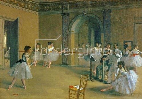 Edgar Degas: Le Foyer de la Danse a l'Opéra de la rue Le Peletier. 1872.