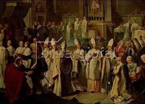 Georg Desmarées: Die Bischofsweihe des Kurfürsten Clemens August durch Benedikt XIII. 1727.