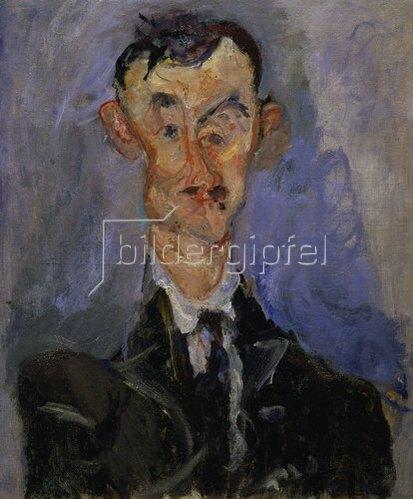 Chaim Soutine: Bildnis eines Mannes (Emile Lejeune). Um 1922