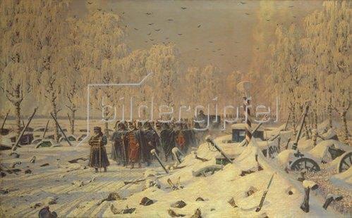 Wassili Werestschagin: Rückzug der napoleonischen Truppen aus Russland. Um 1895