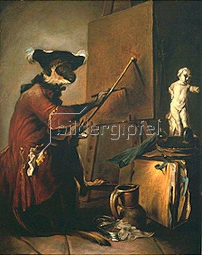 Jean-Baptiste Siméon Chardin: Der Affe als Maler.
