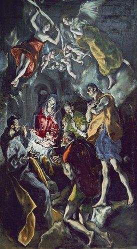 Greco El (Dominikos Theotokopoulos): Die Anbetung der Hirten. Um 1612/14