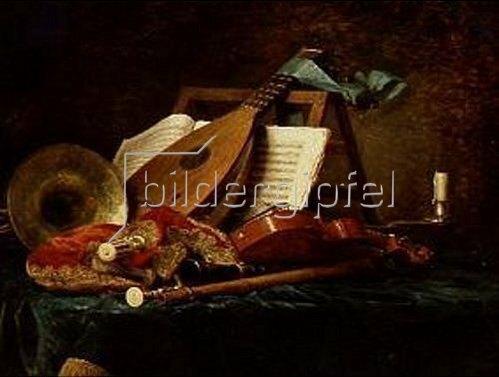 Anne Vallayer-Coster: Die Attribute der Musik. 1770.