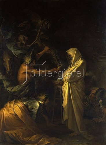Salvator Rosa: Der Schatten Samuels erscheint Saul. 1668.