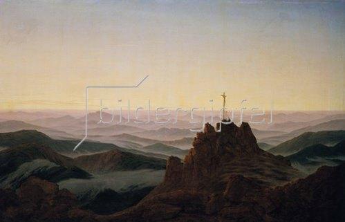 Caspar David Friedrich: Morgen im Riesengebirge. Um 1810