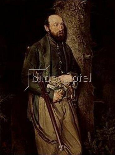 Ferdinand von Rayski: Bildnis des Fortsinspektors Carl Ludwig von Schönberg. 1850.