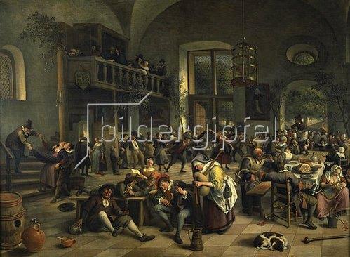 Jan Steen: Tanzvergnügen in einem grossen Wirtshaus. 1676