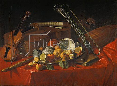 Cristoforo Munari: Stillleben mit Musik-Instrumenten.