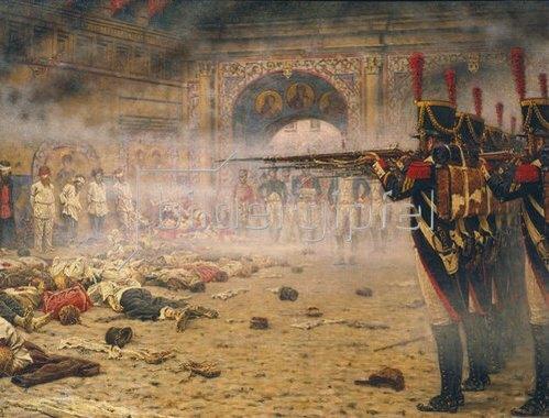 Wassili Werestschagin: Nach der Eroberung Moskaus durch Napoleon: Erschiessung Aufständischer.