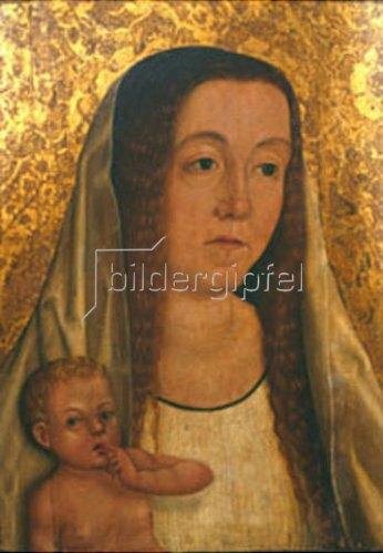 Schwäbischer Meister: Heilige mit Kind