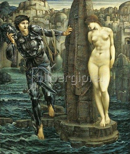 Sir Edward Burne-Jones: Der Schicksals-Felsen (The Rock of Doom). 1885-86