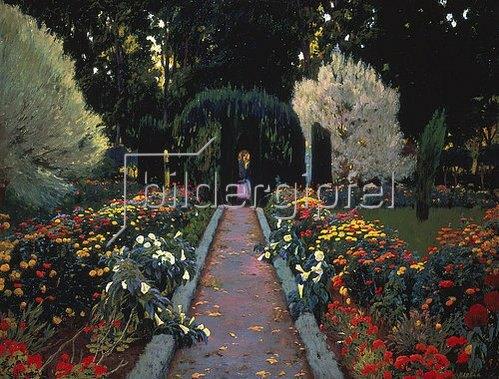 Santiago Rusinol y Prats: Im Garten von Aranjuez. 1908.