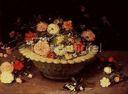 Jan Brueghel d.Ä.: Blumen in einer Schale. Um 1615.