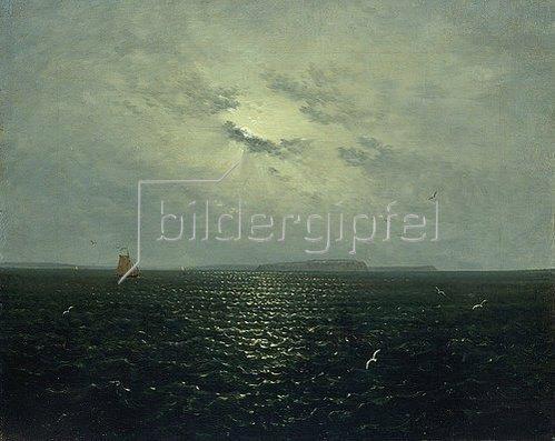 Carl Gustav Carus: Mondnacht bei Rügen. Um 1819