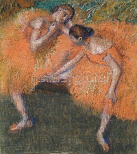 Edgar Degas: Zwei Tänzerinnen. Um 1898