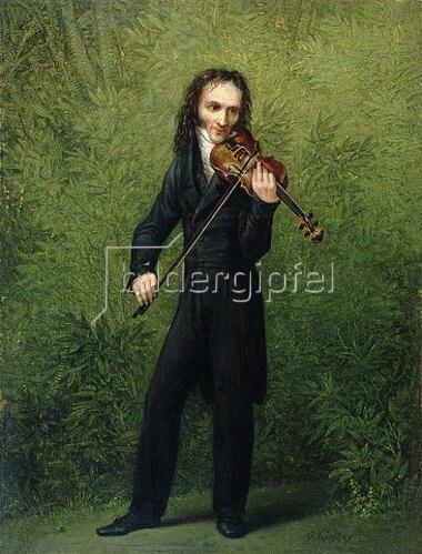 Georg Friedrich Kersting: Der Geiger Nicolo Paganini. Nach 1830.