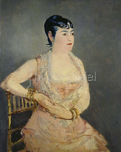 Edouard Manet: Dame in Rosa (Madame Marlin). 1881