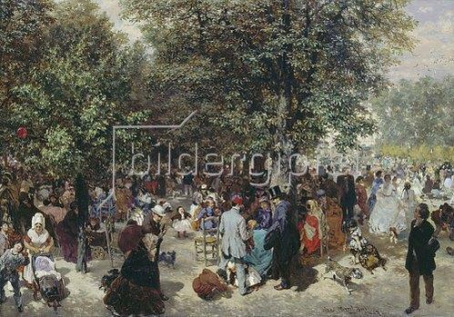 Adolph von Menzel: Ein Nachmittag im Tuileriengarten. 1867