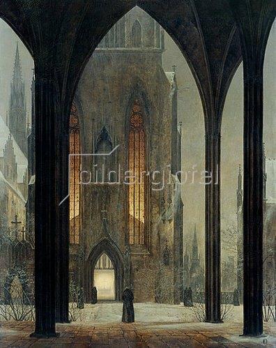Ernst Ferdinand Oehme: Dom im Winter. 1821