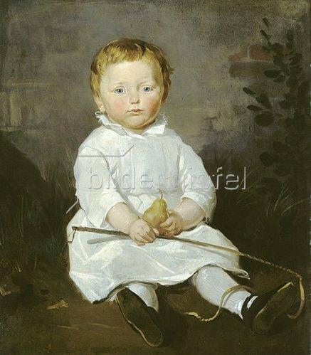Ferdinand von Rayski: Kinderbildnis des Hans von Posern. 1841.