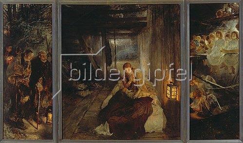 Fritz von Uhde: Die heilige Nacht (Triptychon). 1888/89