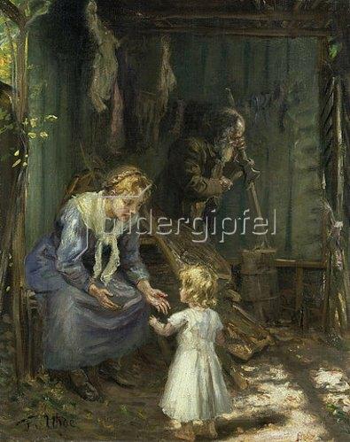Fritz von Uhde: Die heilige Familie in der Werkstatt.