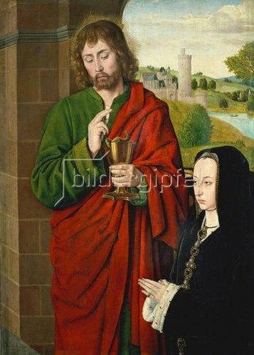 Jean (Meister von Moulins) Hey: Anne de Beaujeu, Herzogin von Bourbon, und Johannes der Evangelist.