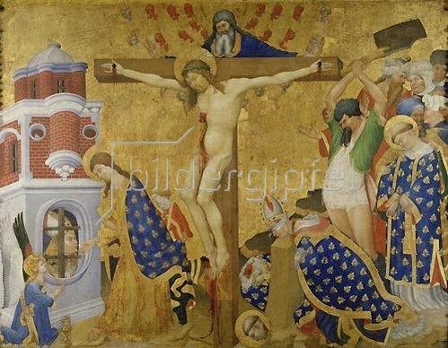 Henri Bellechose: Das Martyrium des heiligen Dionysius (Tafel von der Retabel des Dionysius-Altars für die Kartause von Champmol). 1416 vollendet