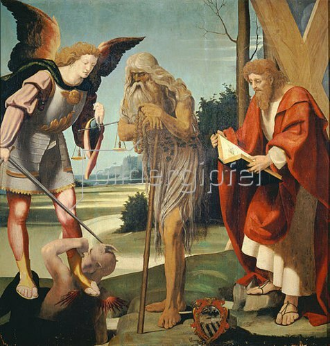 Bramantino (Bartolomeo Suardi): Die hll.Michael, Onuphil und Andreas.