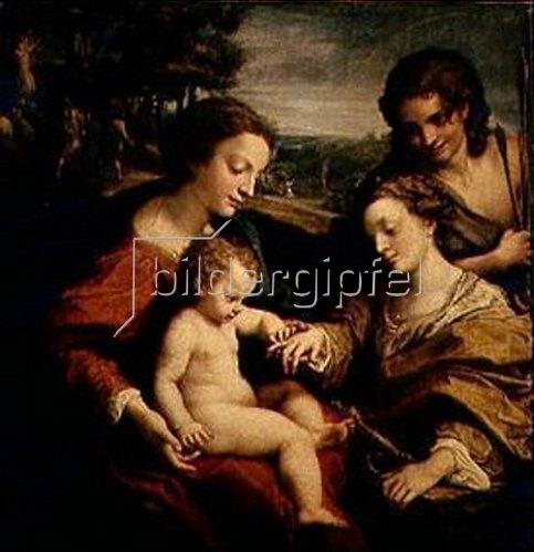 Correggio (Antonio Allegri): Die mystische Vermählung der H.Katharina von Alexandrien.