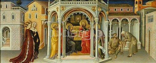 Gentile da Fabriano: Die Darbringung im Tempel. 1423