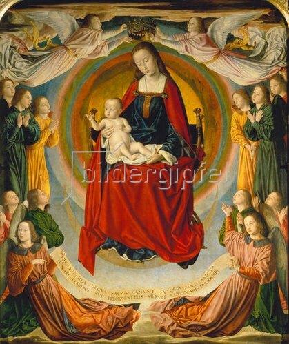 Jean (Meister von Moulins) Hey: Die Jungfrau mit dem Kinde und Stiftern.
