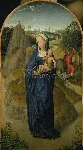 Hans Memling: Die Jungfrau mit dem Kinde während der Flucht nach Ägypten.