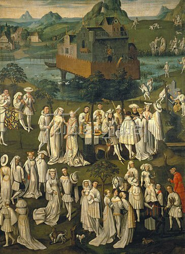 Französisch: Mittelalterliches Fest.
