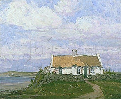 Hans Iten: Irisches Landhaus an der Küste.