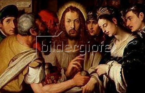 Johannes Fischer: Christus und die Ehebrecherin. 1617.