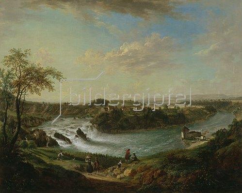 Christian Georg Schütz d.Ä.: Der Rheinfall bei Schaffhausen. 1761.
