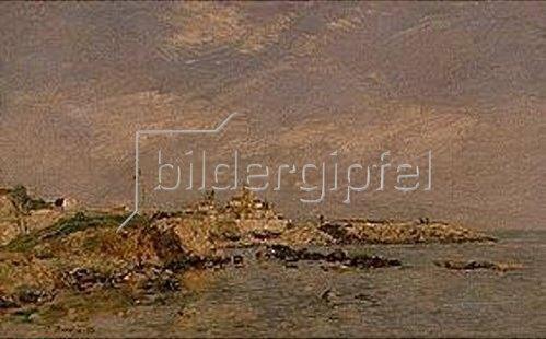 Eugène Boudin: Le Cap d'Antibes. 1893.