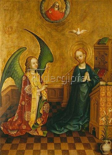 Meister des Heisterbacher Altars: Verkündigung an Maria.